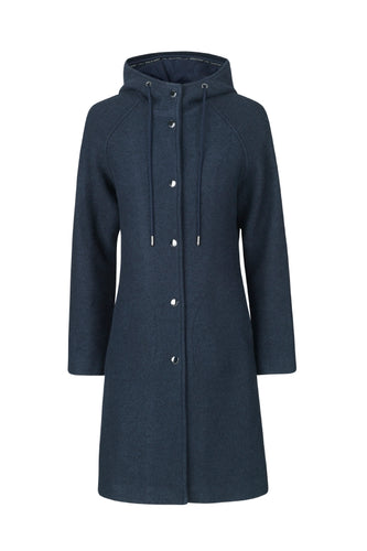 ILSE JACOBSEN- Dark Navy Wool Coat