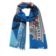 Load image into Gallery viewer, Inouitoosh Scarf NOMADE- Blue