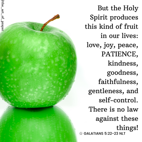 Tennis Ball - Daily Devotional ~ Fruit of the Spirit ~ Patience