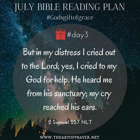 Outer Space - Monthly Bible Reading Plan ~ July