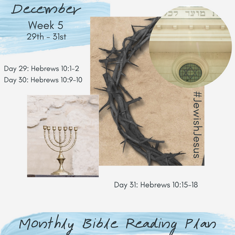Text - Monthly Bible Reading Plan ~ December ~ Jewish Jesus ~ Discovering our Jewish Roots in Christianity