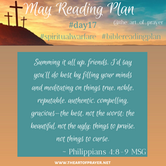 Poster - Monthly Bible Reading Plan - May