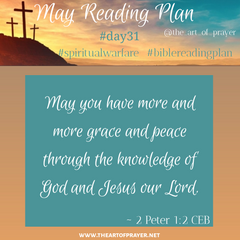 Business Card - Monthly Bible Reading Plan - May
