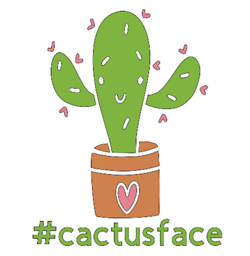Christian Art ~ Unwinds Collection ~ Cactus Face ~ Fun