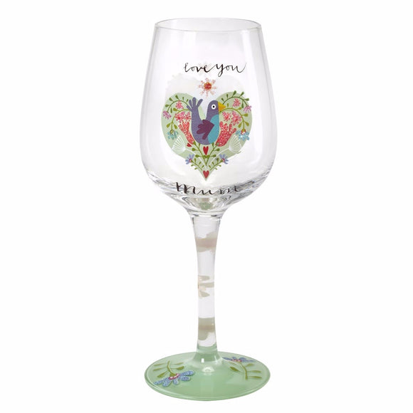 Here's To You Love You Mum Wine Glass (Kali Stileman)