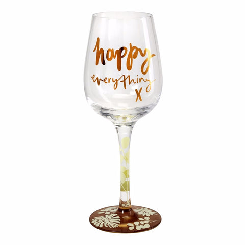 Here's To You Happy Everything Wine Glass (Emma Kate)