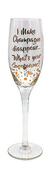 Superpower Champagne flute
