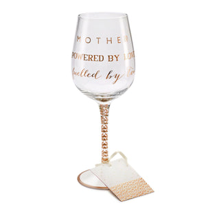 Here's To You Mother Wine Glass (Megan Claire)