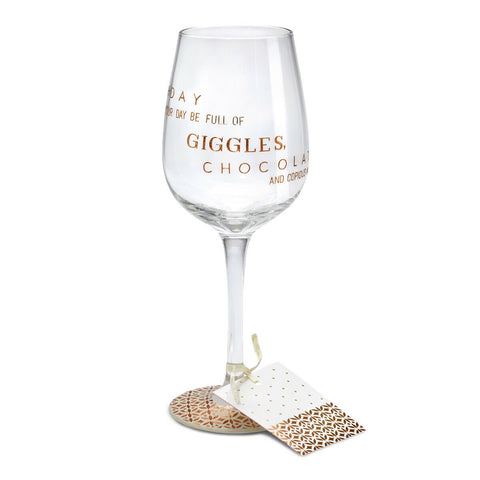 Here's To You Happy Birthday Wine Glass (Megan Claire)