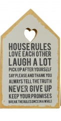 House rules wooden slogan plaque