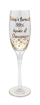 Today's forecast Champagne flute