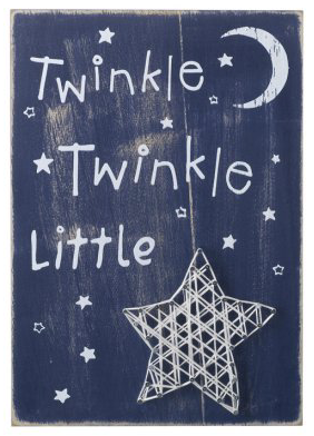 Twinkle Twinkle Wall Plaque