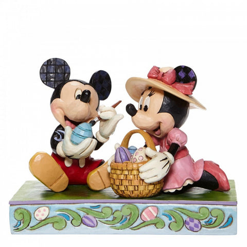 Easter Artistry - Mickey and Minnie Easter Figurine