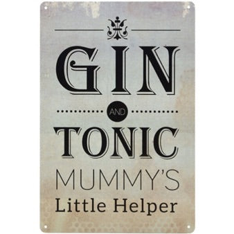 Metal Gin & Tonic plaque