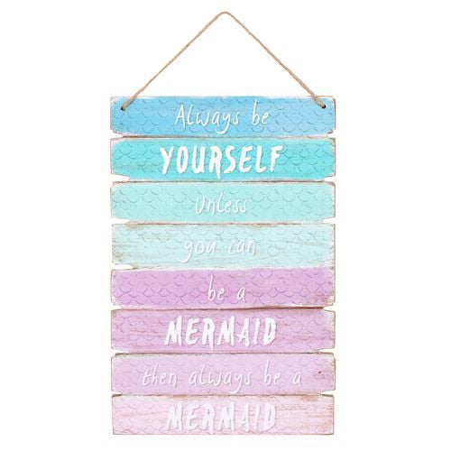 Mermaid wooden wall sign
