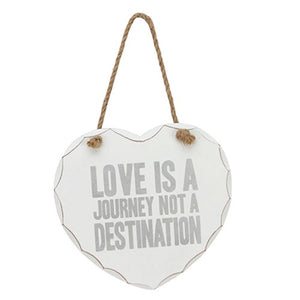 Love is a journey heart plaque