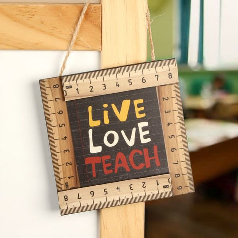 Hanging plaque - live, love, teach