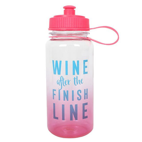 Wine After The Finish Line Sports Bottle