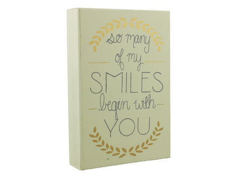 So many smiles plaque