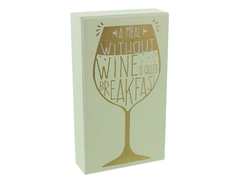 A meal without wine plaque