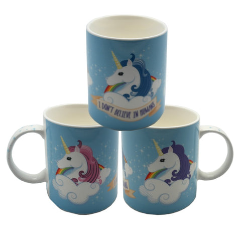 I don't believe in humans, unicorn mug