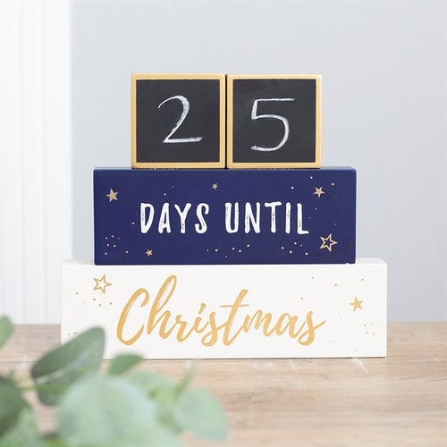 Countdown Until Christmas Stacking Blocks