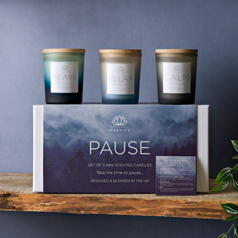 Serenity Pause Set of 3 Candles 70g