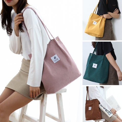 back to school sale corduroy tote bag