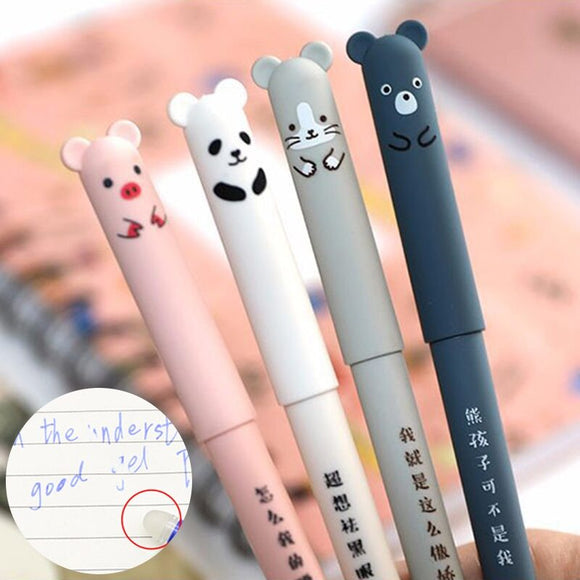 Cute Animal Erasable Pens - 4 pcs/set - The Stationery Booth