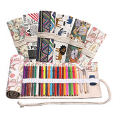 36-slot Canvas Rollup Case - The Stationery Booth