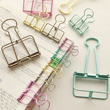 Pastel Binder Clips - set of 5 - The Stationery Booth