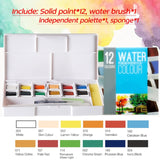 Watercolor Portable Paint Kit - The Stationery Booth
