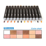 Skin Tones Soft Brush Markers - 12 Set - The Stationery Booth