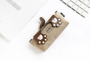 Canvas Pencil Case (Cat Paw Snap Button Closure) - The Stationery Booth