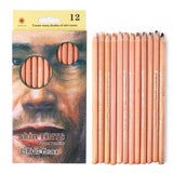 12 Soft Skin Toned Pastel Pencils - The Stationery Booth