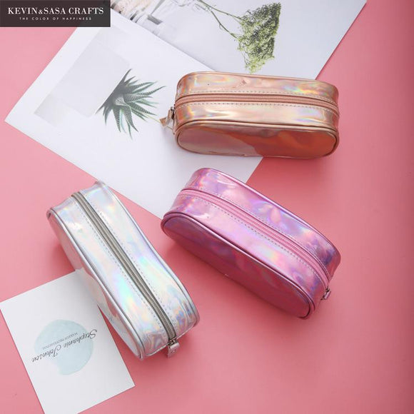 Large Iridescent Pencil Case - The Stationery Booth