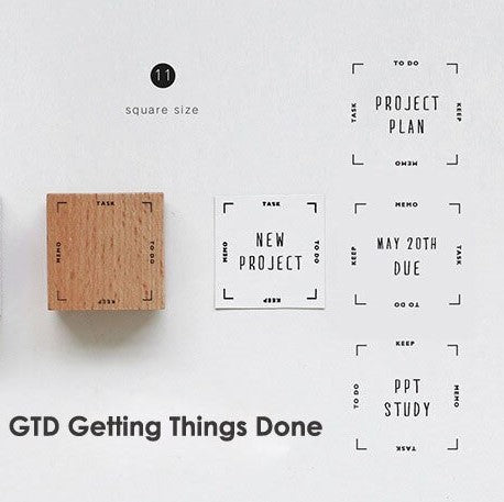 Journal/Planning Organization - Get Things Done Wooden Stamp - The Stationery Booth