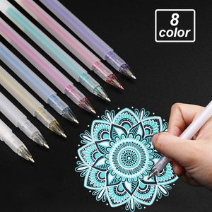 Gel Ink Pens - set of 8 - The Stationery Booth