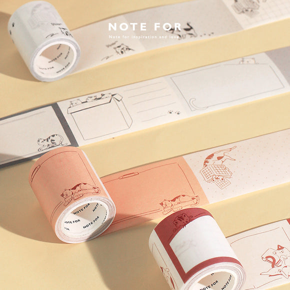 Cat-themed Planner Washi Tape - The Stationery Booth