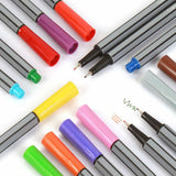 0.4mm Tip Fineliners - set of 24 - The Stationery Booth