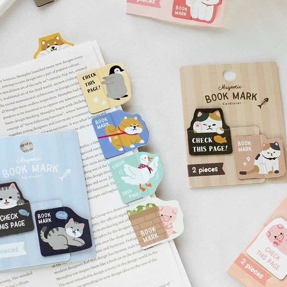 Magnetic Animal Bookmark - The Stationery Booth