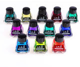 Fountain pen ink - set of 12 colors - The Stationery Booth