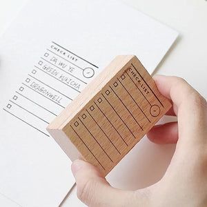 Journal/Planner Organization - Wooden Checklist Stamp - The Stationery Booth