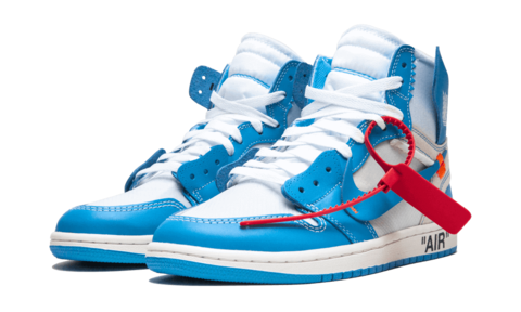 multiple colors available best prices NIKE AIR JORDAN 1 X OFF-WHITE (BLUE)