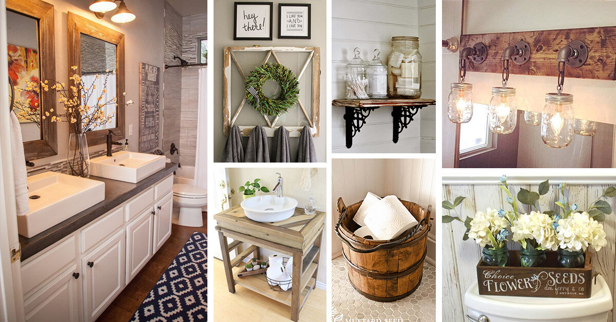 Best Ideas For Bathroom Rustic Decors