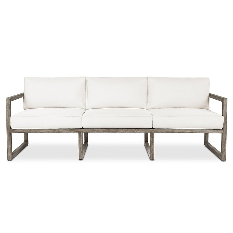 Monaco Sofa in Brushed Antique White by Real Flame