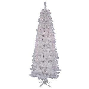 Vickerman White Salem Pencil Tree with Dura-Lit 450 Clear Lights, 8.5-Feet by 40-Inch
