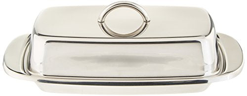 Norpro Stainless Steel Double Covered Butter Dish FBAB0093J4CU8