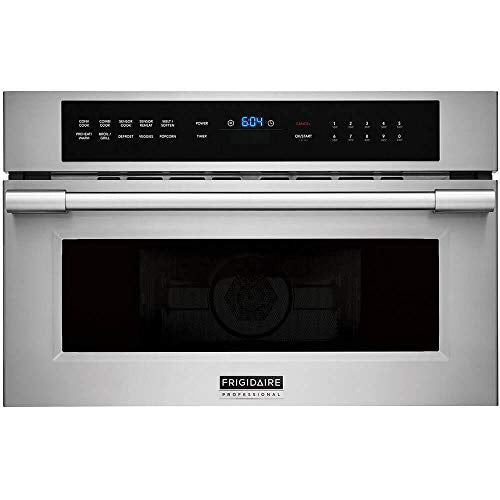 FRIGIDAIRE FPMO3077TF Professional 30'' Built-in Convection Microwave Oven with Drop-Down Door, Stainless Steel