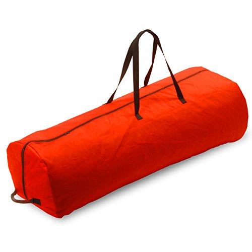 Red Artificial Tree Bag for 7 1/2' Tree with Rolling Wheels